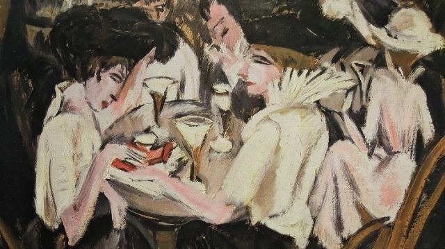 """E.L. Kirchner, """"Dame al caffè"""""""