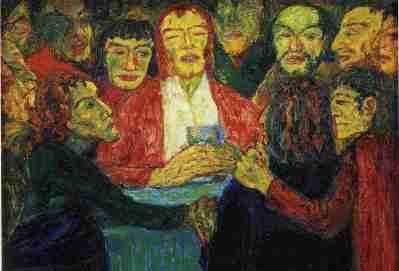 """Emil Nolde, """"L'ultima zuppa"""" (1909)"""