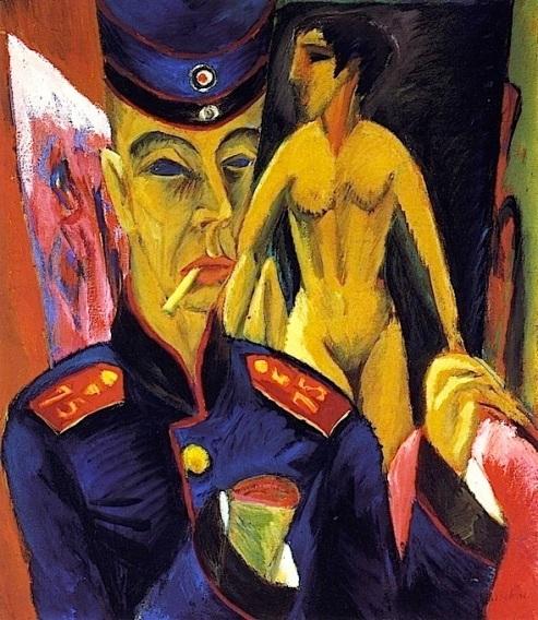 """E. L. Kirchner, """"Autoritratto come soldato"""" (1915)"""