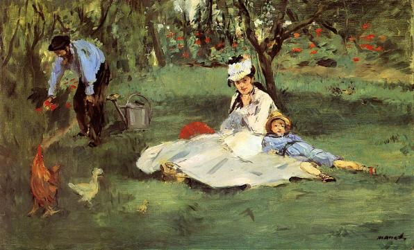 "Edouard Manet, ""La famiglia Monet nel giardino"" (1874)"