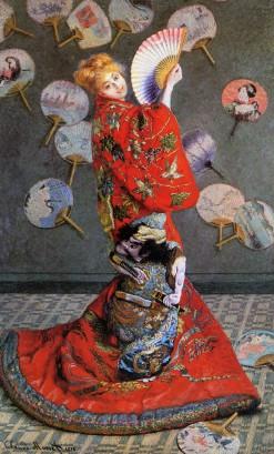 """Camille in abiti giapponesi"" (1876)"