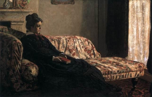 """""""Camille Monet sul divano"""" (1871)"""