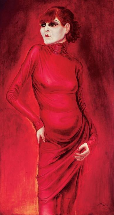 """Otto Dix, """"La ballerina Anita Berber"""" (1925)"""
